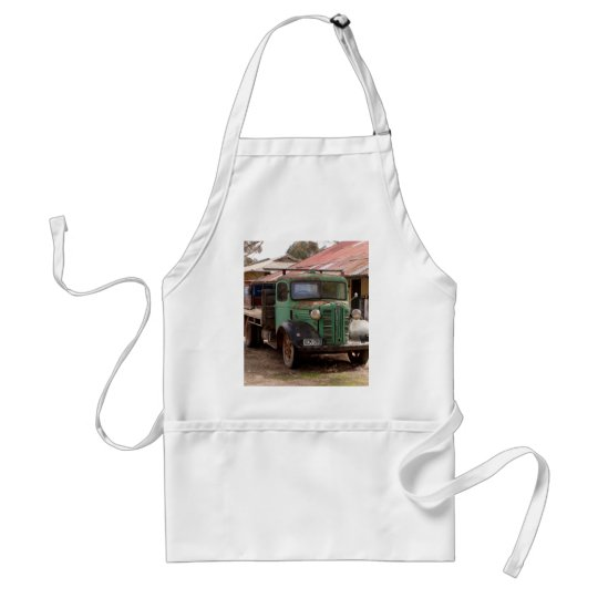 Old green truck standard apron