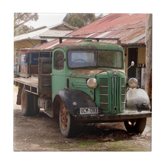 Old green truck tile