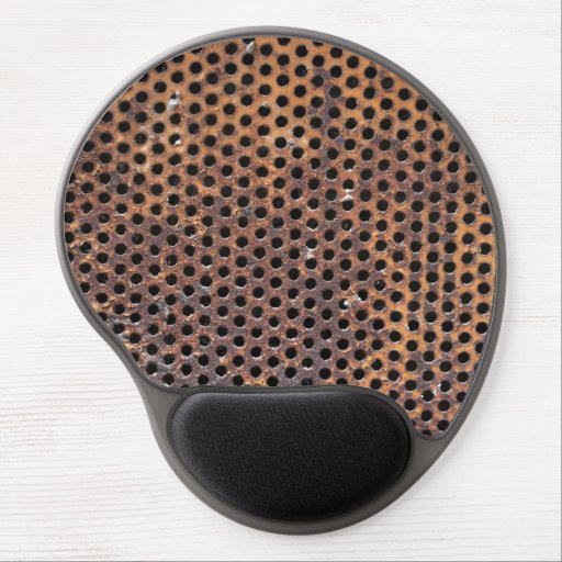 old grunge metal iron plate pierced hole texture gel mousepad