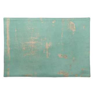 Old Grunge Teal Paint Vintage Newspaper Placemat