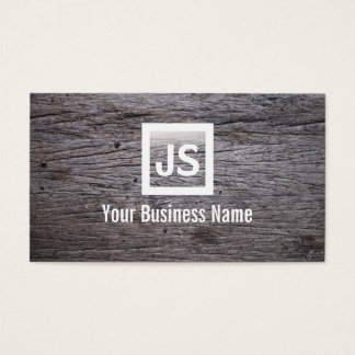 Old Grunge Wood Texture Modern Business Card
