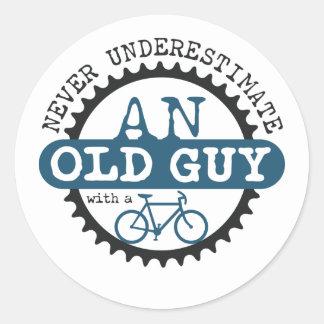 Old Guy Classic Round Sticker