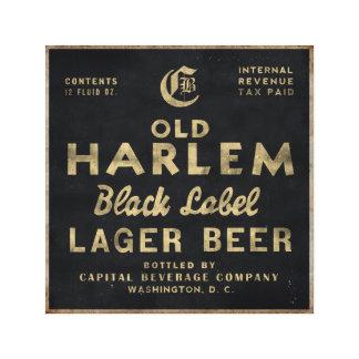 Old Harlem Lager Beer vintage advertisment canvas