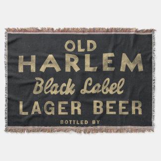 Old Harlem Lager Beer vintage advertisment Throw Blanket