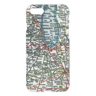Old Highway Map Chicago Milwauke and Lake Michigan iPhone 7 Case
