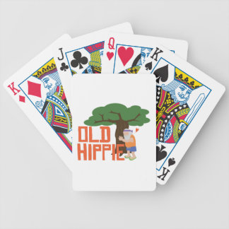 Old Hippie Bicycle Playing Cards