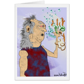 OLD HIPPIE DUDE  birthday card