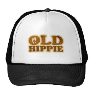 Old Hippie Peace Sign Trucker Hat