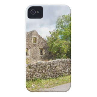 Old historic house as ruins along road iPhone 4 Case-Mate case