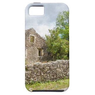 Old historic house as ruins along road iPhone 5 cases