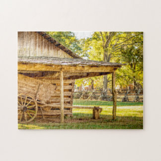 Old Historic Log Cabin Jigsaw Puzzle