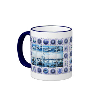 Old Holland Delftware Style Tile Mural Coffee Mug