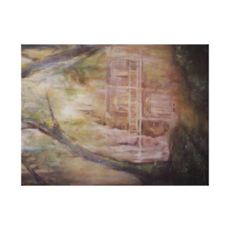 Old Home in the Woods canvas wall art