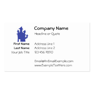 Old House. Deep Blue. Pack Of Standard Business Cards