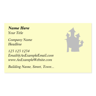 Old House. Gray. Pack Of Standard Business Cards