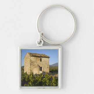Old house in the Comtat Venaissin, Vaucluse, Silver-Colored Square Key Ring