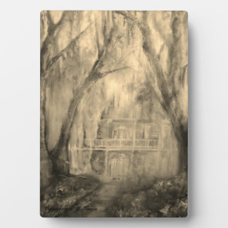 Old House in the Woods art plaque with easel