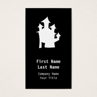 Old House, in White. Business Card