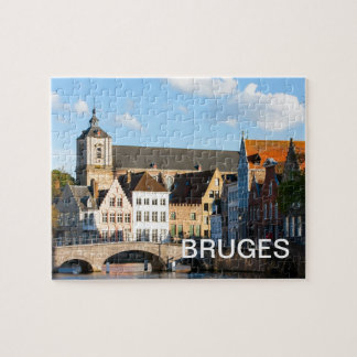 Old houses in Bruges, Belgium Jigsaw Puzzle