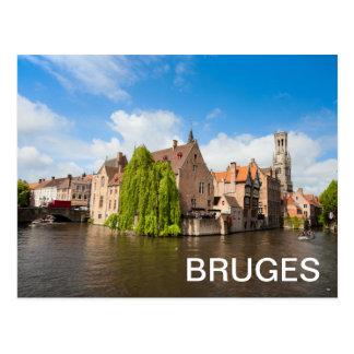 Old houses in Bruges, Belgium Postcard