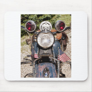 old Indian Harley-Davidson Police Motorcycle Mouse Pad