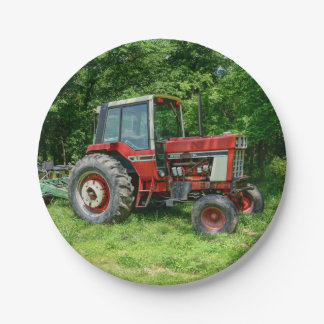 Old International Tractor 7 Inch Paper Plate