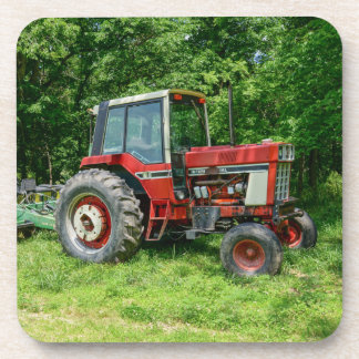 Old International Tractor Beverage Coasters