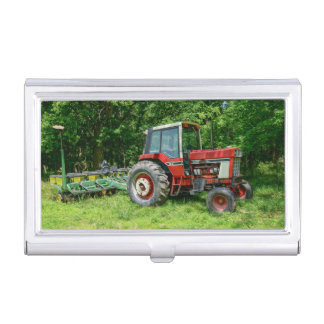 Old International Tractor Business Card Holder