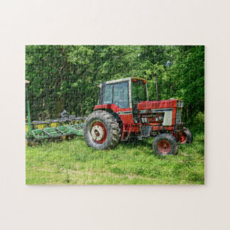Old International Tractor Jigsaw Puzzle
