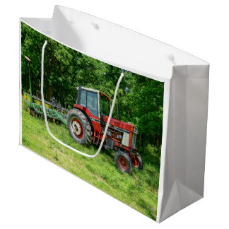 Old International Tractor Large Gift Bag