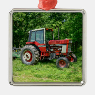 Old International Tractor Metal Ornament