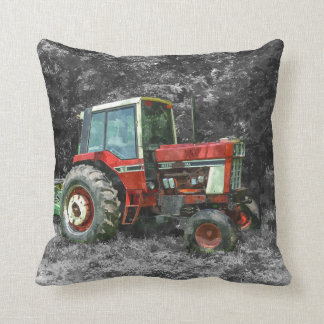 Old International Tractor Painterly Cushion