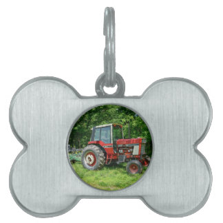 Old International Tractor Pet ID Tag