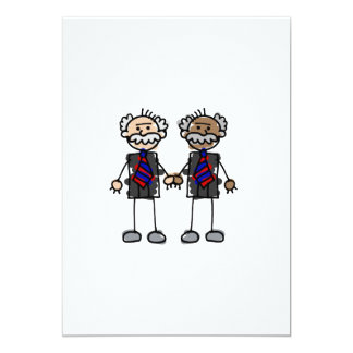"Old Interracial Couple 5"" X 7"" Invitation Card"