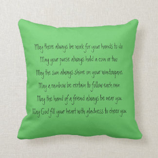 old irish blessing and abstract art cushions