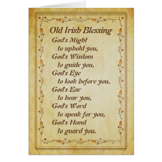 Old Irish Blessing, God's Wisdom to Guide You Card