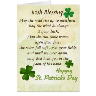Old Irish Blessing St. Patrick's Day Custom Card
