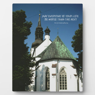Old Irish Wedding Blessing On Historical Church. Photo Plaques