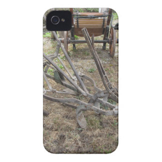 Old iron plow and other agricultural tools iPhone 4 Case-Mate case