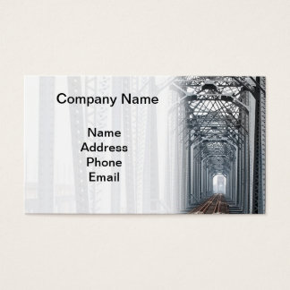 Old Iron Railway Bridge Business Card