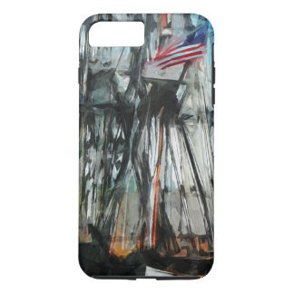 Old Ironsides Boston Harbor Abstract Impressionism iPhone 7 Plus Case