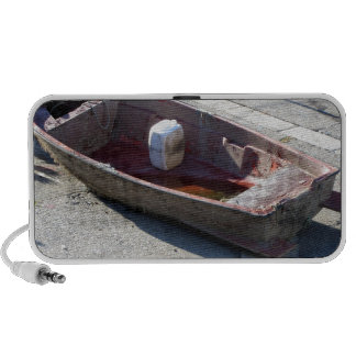 Old italian abandoned boat notebook speaker