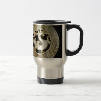 Old Jade Dragon Bi, arcahic Chinese Jade Travel Mug