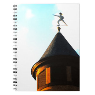 Old Jake Weather Vane Spiral Note Books