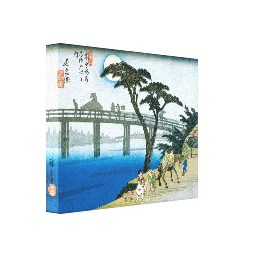 Old Japanese Art Print Stretched Canvas Prints