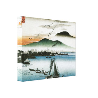 Old Japanese Boats Print Stretched Canvas Prints