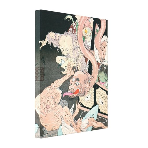 Old Japanese Ghost Painting Canvas Prints