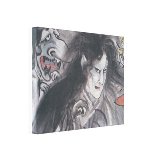 Old Japanese Ghost Print Canvas Prints