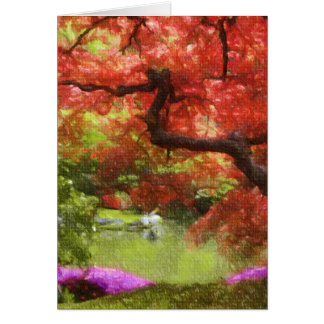 Old Japanese Maple Card