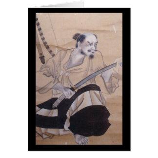 Old Japanese Samurai Painting Card